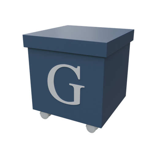 Thumbnail: Blue organizer box with casters-04