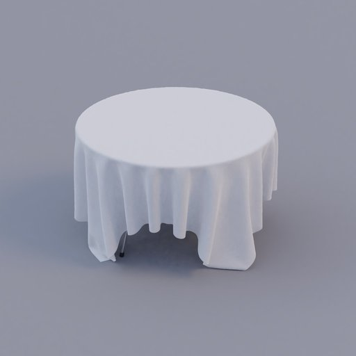 Thumbnail: round restaurant table with table-cloth