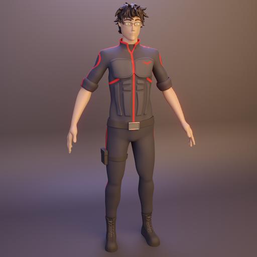 Thumbnail: Man-Character-Rigged