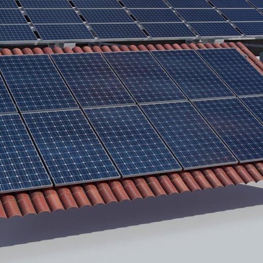 Thumbnail: 3.6kw Roof Solar Panels Array
