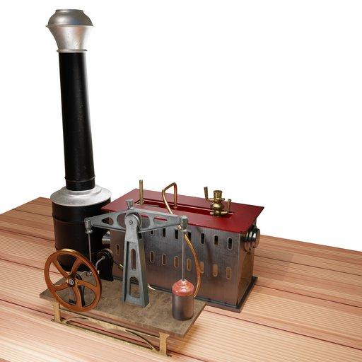 Late 19th century toy steam engine