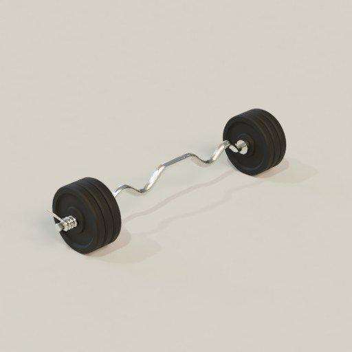 Thumbnail: Gym curl rod