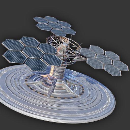 Thumbnail: Sci-Fi Solar Power Installation