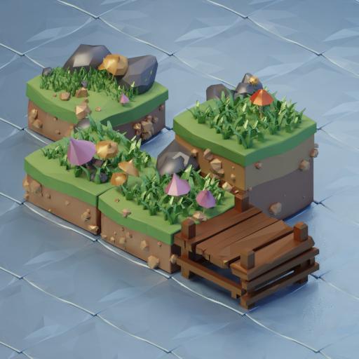 Island low poly