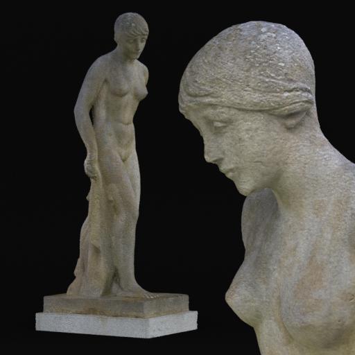Thumbnail: young girl statue