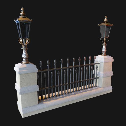 Vintage Victorian Street fence