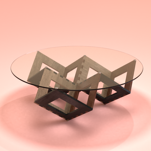 Thumbnail: Coffee table with glass top