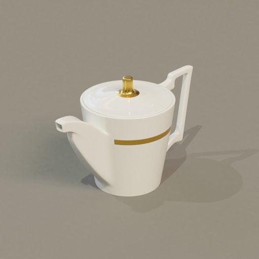 Thumbnail: Tea pot white