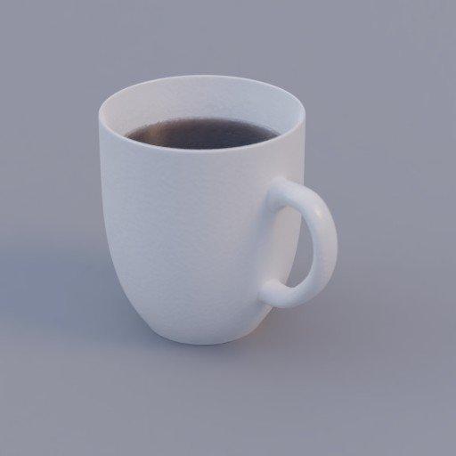 Thumbnail: white porcelain mug with coffee