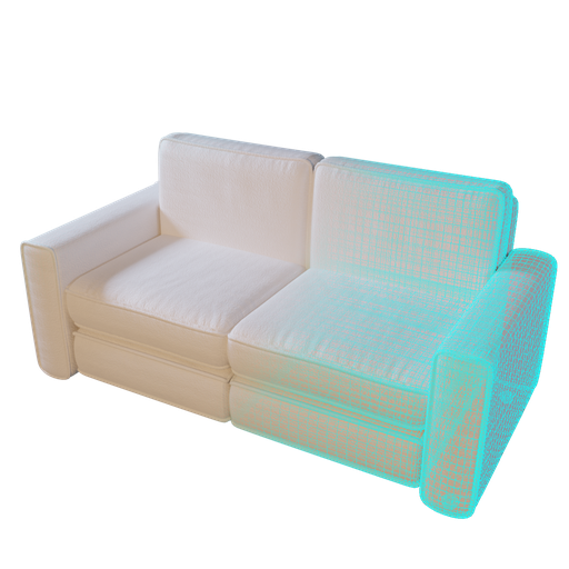 Sofa 01 (low poly variant)