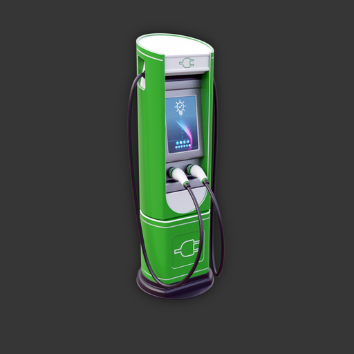 Electric Vehicle Charging Station (green variant)