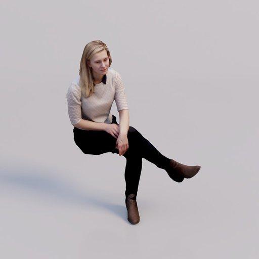 Thumbnail: 3D soul - sitting young woman Katka
