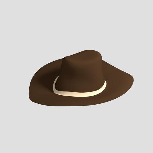 Thumbnail: Low Poly Cowboy Hat