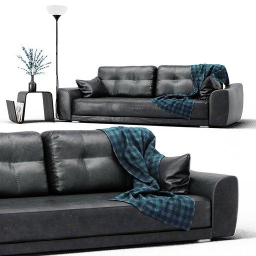 Thumbnail: Leather Sofa Set
