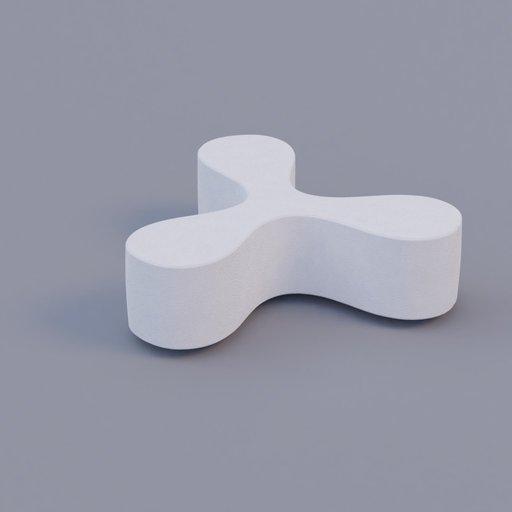 Thumbnail: white public space bench