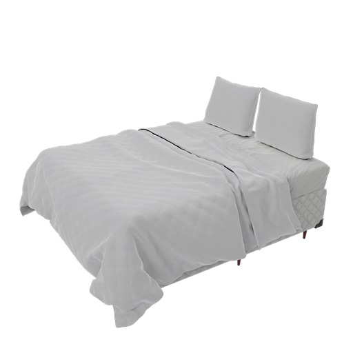 Thumbnail: Queen bedspread and box bed