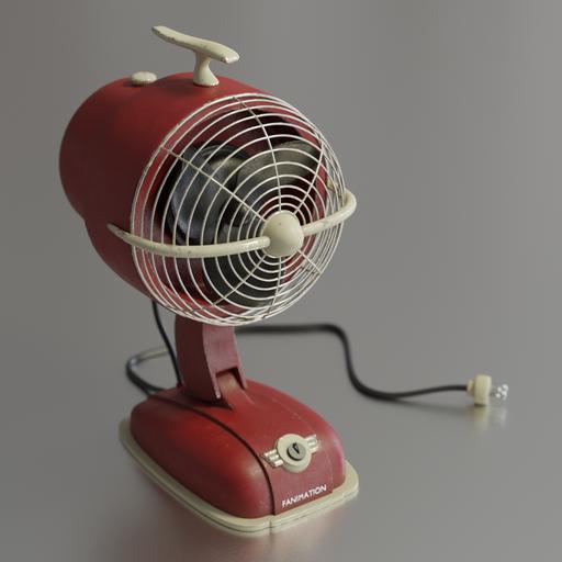 Fan in a retro style