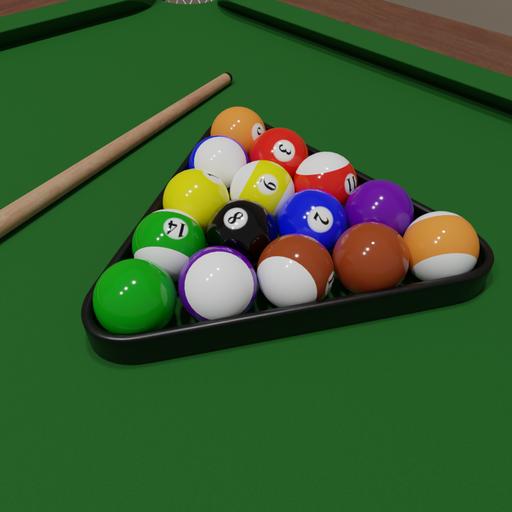 Thumbnail: Pool balls set