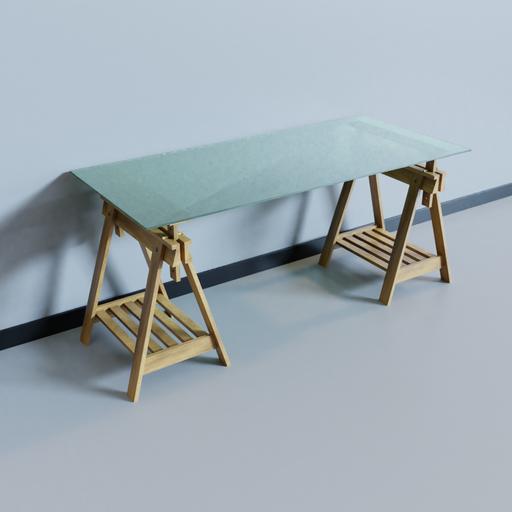 Thumbnail: Ikea Glass Desk - GLASHOLM / FINNVARD