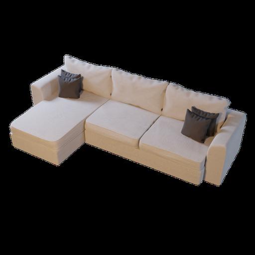 Sofa L shape 01