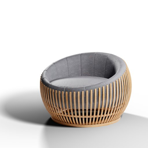 Thumbnail: Montley Baton Drum Chair