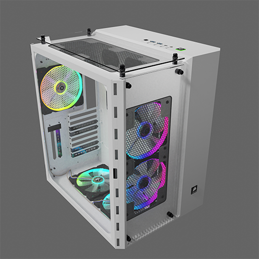 Corsair Tower case »Crystal 680X RGB, tempered glass«