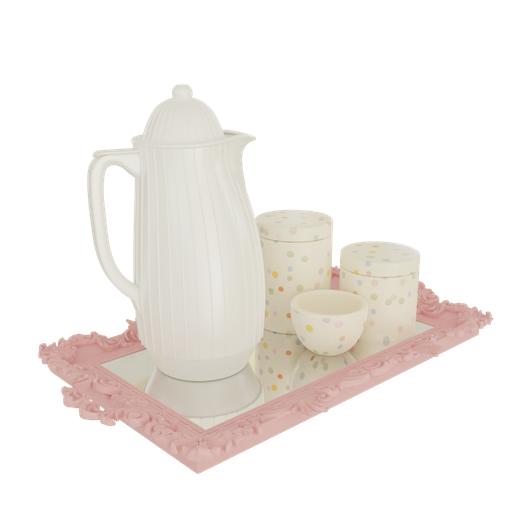 Thumbnail: Hygiene kit luxury tray mirrored bottle termica