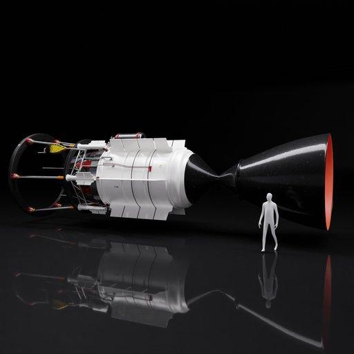 Thumbnail: Nuclear Propulsion Rocket Engine