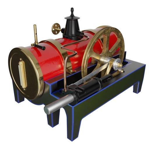 Bing Steam Engine Toy 19th Century