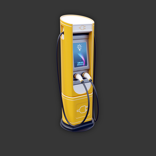 Electric Vehicle Charging Station (yellow variant)