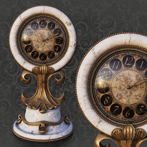 Thumbnail: White table clock