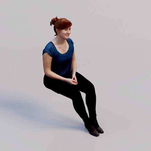 Thumbnail: 3D soul - sitting young woman Petra