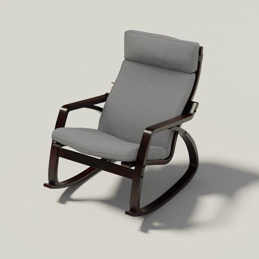 The IKEA Poäng rocking chair  (grey)