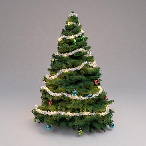Thumbnail: christmas tree - decorated