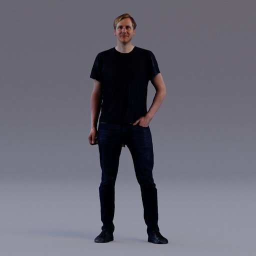 Thumbnail: 3D soul - standing young man - Tom