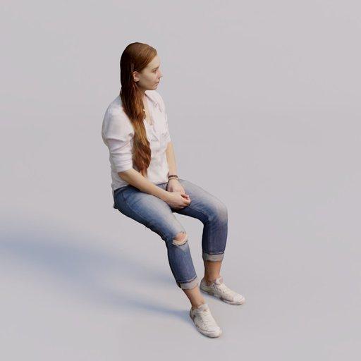 Thumbnail: 3D soul - sitting young woman Eliska
