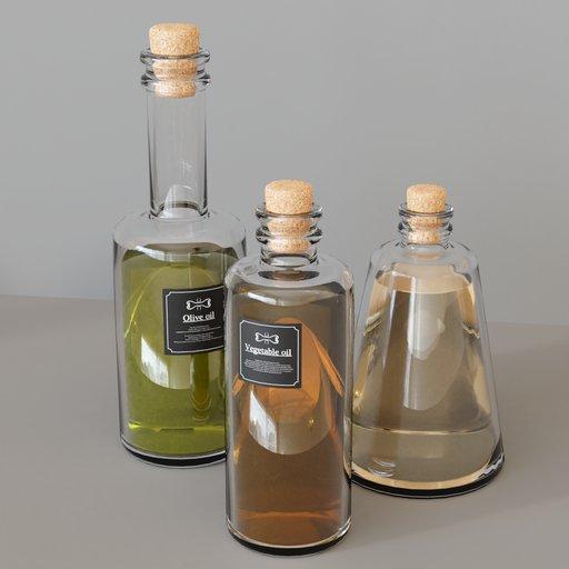 Thumbnail: KITCHEN SET 7 - Oil bottles