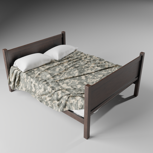 Thumbnail: Simple Double Bed