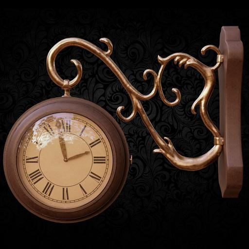 Thumbnail: Wall clock on a hook
