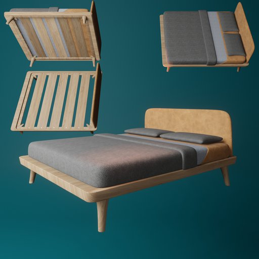 Thumbnail: King sized bed(style 1)