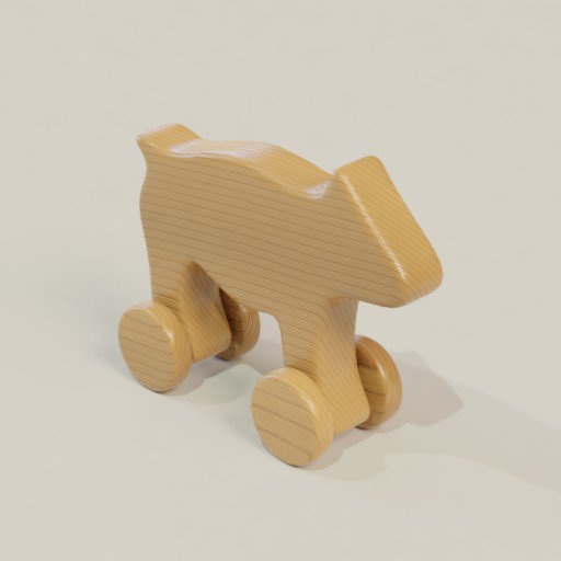 Thumbnail: Wooden toy animal