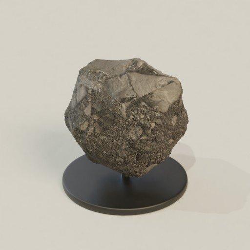 Thumbnail: Asteroid sculpture